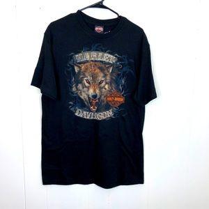 Harley-Davidson Wolf T-Shirt Sz L